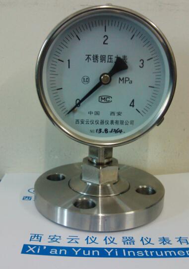 隔膜压力表-西安仪表